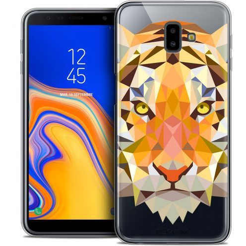 "Carcasa Crystal Gel Extra Fina Samsung Galaxy J6 Plus J6+ (6.4"") Polygon Animals Tigre"