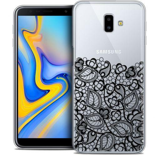 "Carcasa Crystal Gel Extra Fina Samsung Galaxy J6 Plus J6+ (6.4"") Spring Bas dentelle Noir"