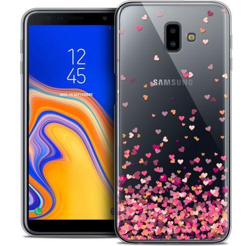 "Carcasa Crystal Gel Extra Fina Samsung Galaxy J6 Plus J6+ (6.4"") Sweetie Heart Flakes"