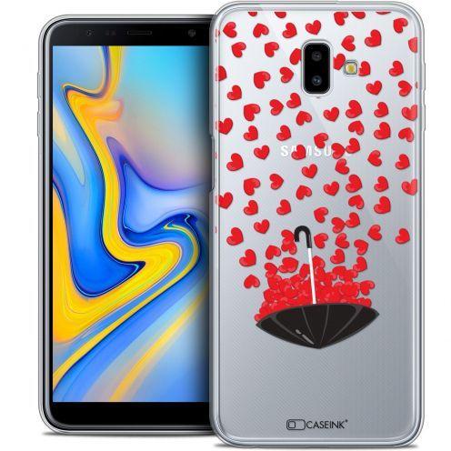 "Carcasa Crystal Gel Extra Fina Samsung Galaxy J6 Plus J6+ (6.4"") Love Parapluie d'Amour"