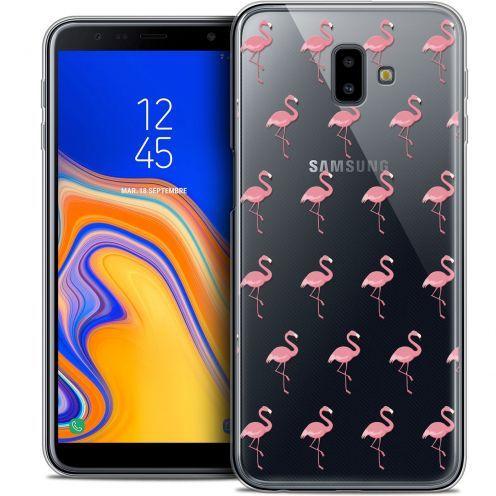 "Carcasa Crystal Gel Extra Fina Samsung Galaxy J6 Plus J6+ (6.4"") Pattern Les flamants Roses"