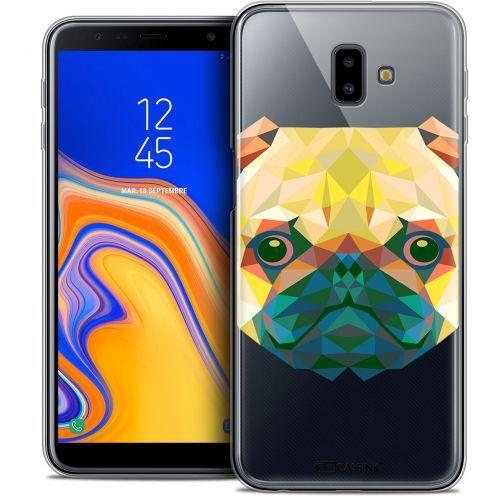 "Carcasa Crystal Gel Extra Fina Samsung Galaxy J6 Plus J6+ (6.4"") Polygon Animals Perro"