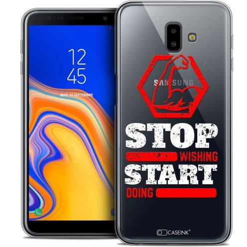 "Carcasa Crystal Gel Extra Fina Samsung Galaxy J6 Plus J6+ (6.4"") Quote Start Doing"