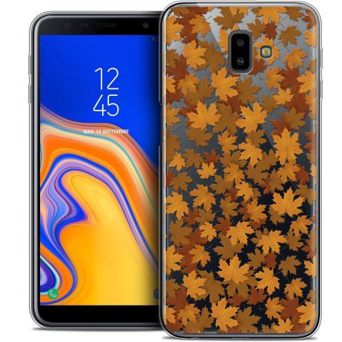 "Carcasa Crystal Gel Extra Fina Samsung Galaxy J6 Plus J6+ (6.4"") Autumn 16 Feuilles"