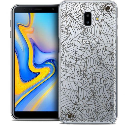 "Carcasa Crystal Gel Extra Fina Samsung Galaxy J6 Plus J6+ (6.4"") Halloween Spooky Spider"