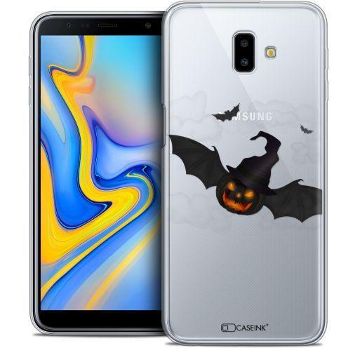 "Carcasa Crystal Gel Extra Fina Samsung Galaxy J6 Plus J6+ (6.4"") Halloween Chauve Citrouille"