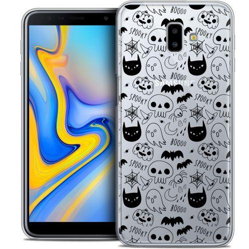 "Carcasa Crystal Gel Extra Fina Samsung Galaxy J6 Plus J6+ (6.4"") Halloween Spooky"