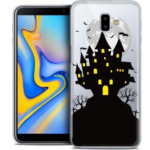 "Carcasa Crystal Gel Extra Fina Samsung Galaxy J6 Plus J6+ (6.4"") Halloween Castle Scream"
