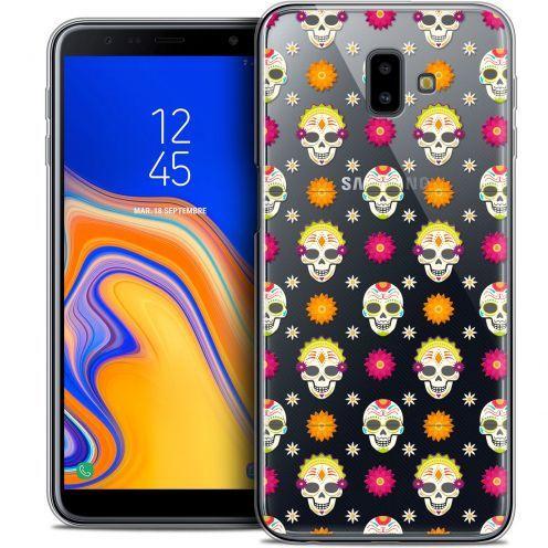 """Carcasa Crystal Gel Extra Fina Samsung Galaxy J6 Plus J6+ (6.4"""") Halloween Skull Halloween"""