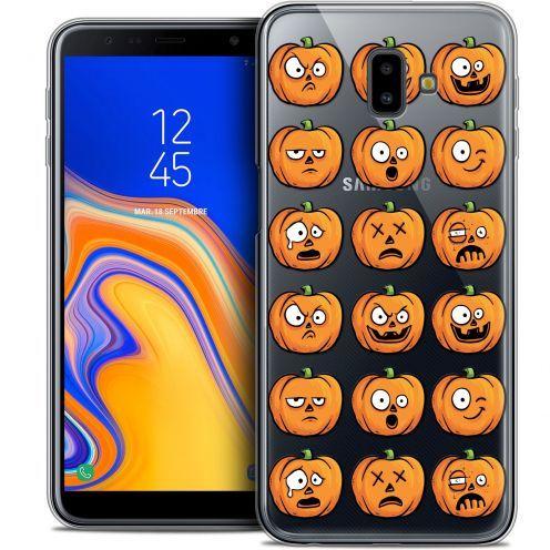 "Carcasa Crystal Gel Extra Fina Samsung Galaxy J6 Plus J6+ (6.4"") Halloween Cartoon Citrouille"