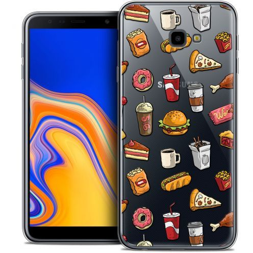 "Carcasa Crystal Gel Extra Fina Samsung Galaxy J4 Plus J4+ (6"") Foodie Fast Food"