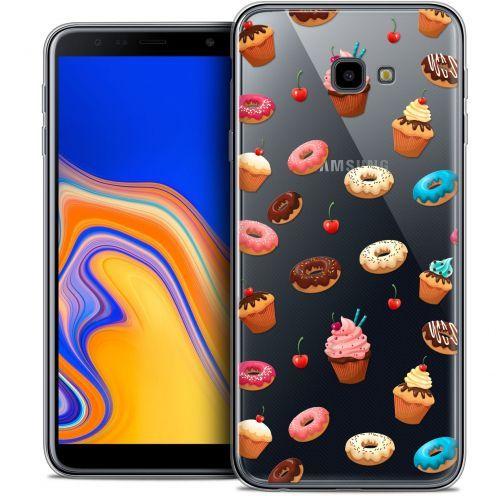 "Carcasa Crystal Gel Extra Fina Samsung Galaxy J4 Plus J4+ (6"") Foodie Donuts"
