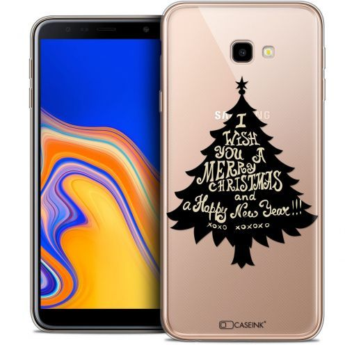 "Carcasa Crystal Gel Extra Fina Samsung Galaxy J4 Plus J4+ (6"") Noël 2017 XOXO Tree"