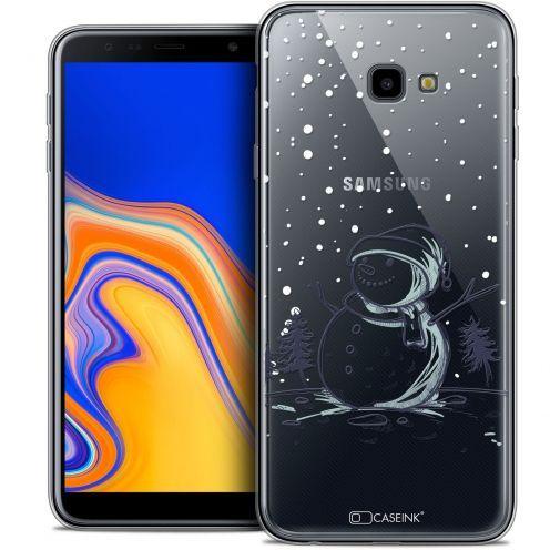 "Carcasa Crystal Gel Extra Fina Samsung Galaxy J4 Plus J4+ (6"") Noël 2017 Bonhomme de Neige"
