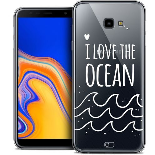 "Carcasa Crystal Gel Extra Fina Samsung Galaxy J4 Plus J4+ (6"") Summer I Love Ocean"