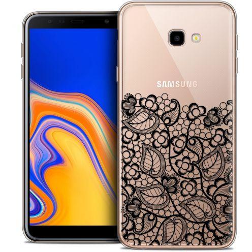 "Carcasa Crystal Gel Extra Fina Samsung Galaxy J4 Plus J4+ (6"") Spring Bas dentelle Noir"