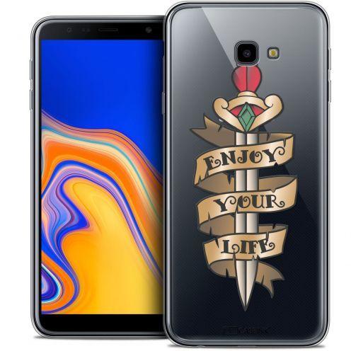 "Carcasa Crystal Gel Extra Fina Samsung Galaxy J4 Plus J4+ (6"") Tatoo Lover Enjoy Life"