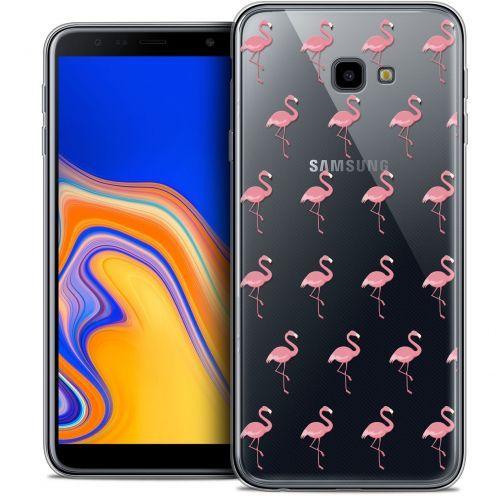 "Carcasa Crystal Gel Extra Fina Samsung Galaxy J4 Plus J4+ (6"") Pattern Les flamants Roses"