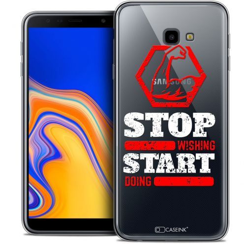 "Carcasa Crystal Gel Extra Fina Samsung Galaxy J4 Plus J4+ (6"") Quote Start Doing"