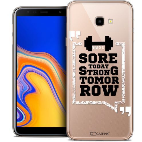 "Carcasa Crystal Gel Extra Fina Samsung Galaxy J4 Plus J4+ (6"") Quote Strong Tomorrow"