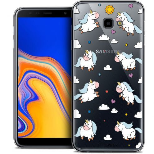 "Carcasa Crystal Gel Extra Fina Samsung Galaxy J4 Plus J4+ (6"") Fantasia Licorne In the Sky"