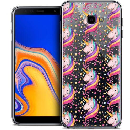 "Carcasa Crystal Gel Extra Fina Samsung Galaxy J4 Plus J4+ (6"") Fantasia Licorne Etoilée"