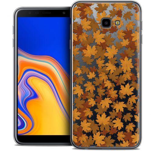 "Carcasa Crystal Gel Extra Fina Samsung Galaxy J4 Plus J4+ (6"") Autumn 16 Feuilles"