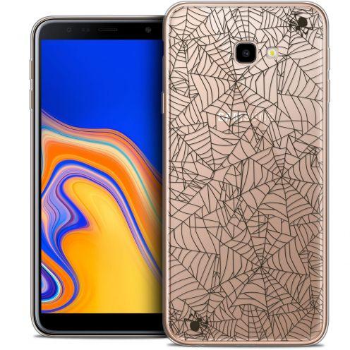 "Carcasa Crystal Gel Extra Fina Samsung Galaxy J4 Plus J4+ (6"") Halloween Spooky Spider"