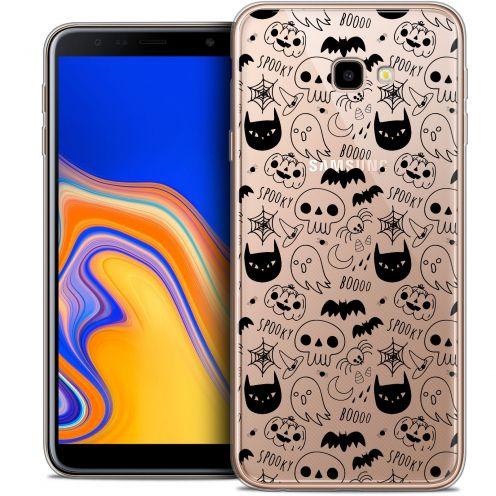"Carcasa Crystal Gel Extra Fina Samsung Galaxy J4 Plus J4+ (6"") Halloween Spooky"
