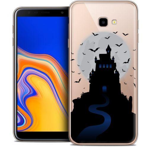"Carcasa Crystal Gel Extra Fina Samsung Galaxy J4 Plus J4+ (6"") Halloween Castle Nightmare"