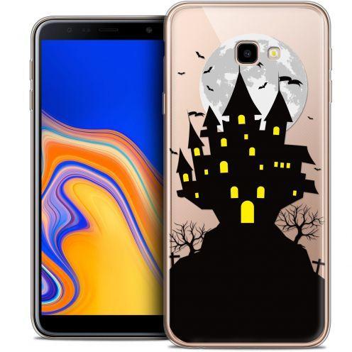 "Carcasa Crystal Gel Extra Fina Samsung Galaxy J4 Plus J4+ (6"") Halloween Castle Scream"