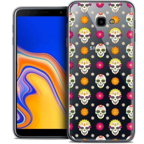 """Carcasa Crystal Gel Extra Fina Samsung Galaxy J4 Plus J4+ (6"""") Halloween Skull Halloween"""