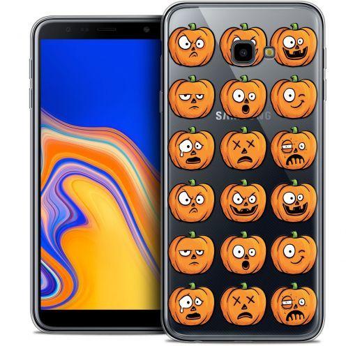"Carcasa Crystal Gel Extra Fina Samsung Galaxy J4 Plus J4+ (6"") Halloween Cartoon Citrouille"