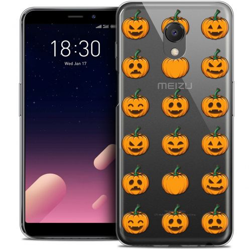 "Carcasa Crystal Gel Extra Fina Meizu M6s (5.7"") Halloween Smiley Citrouille"