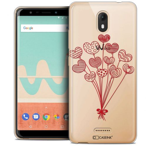 "Carcasa Crystal Gel Extra Fina Wiko View GO (5.7"") Love Ballons d'amour"