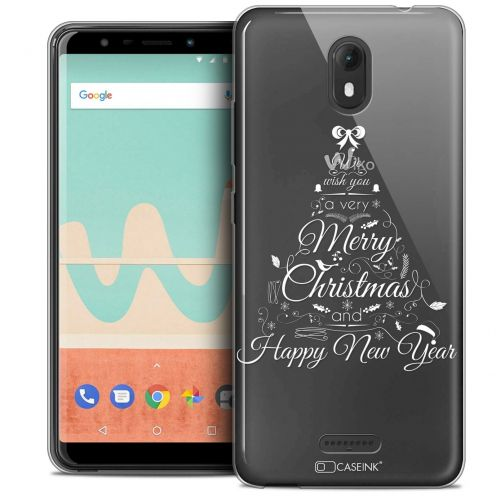 "Carcasa Crystal Gel Extra Fina Wiko View GO (5.7"") Noël 2017 Calligraphie"