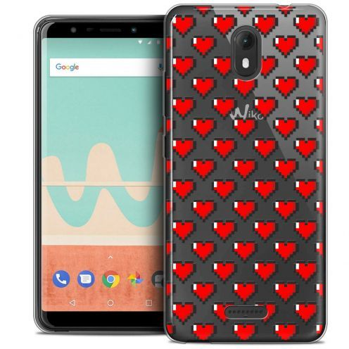 "Carcasa Crystal Gel Extra Fina Wiko View GO (5.7"") Love Pixel Art"