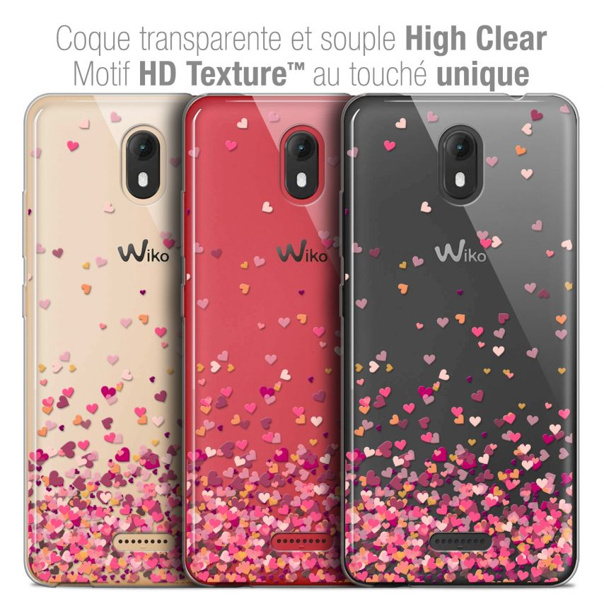"Carcasa Crystal Gel Extra Fina Wiko View GO (5.7"") Sweetie Heart Flakes"