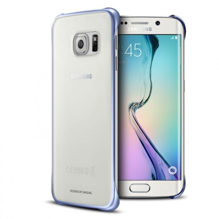 3196516ae72 Carcasa Oficial Samsung Galaxy S6 Edge Clear Cover Crystal Chrome Negro