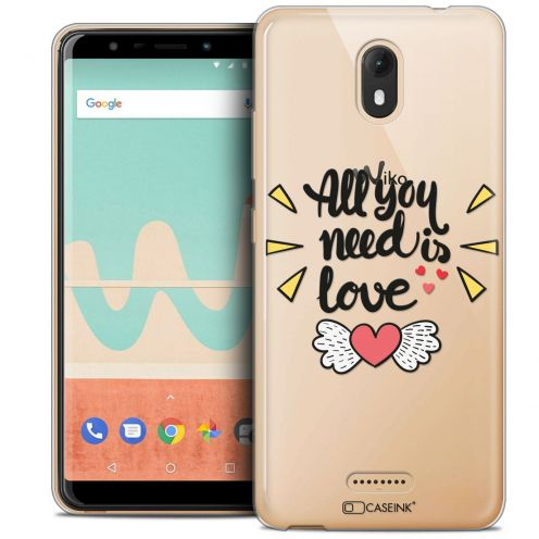 "Carcasa Crystal Gel Extra Fina Wiko View GO (5.7"") Love All U Need Is"