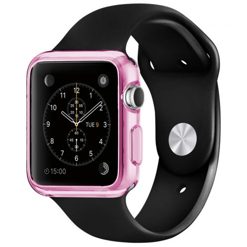 Carcasa Apple Watch 42mm Clear Frame Extra Fina Rosa