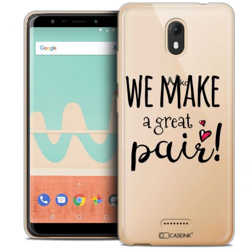 "Carcasa Crystal Gel Extra Fina Wiko View GO (5.7"") Love We Make Great Pair"