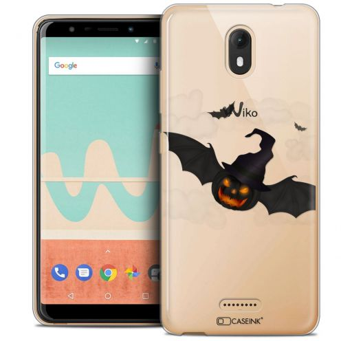 "Carcasa Crystal Gel Extra Fina Wiko View GO (5.7"") Halloween Chauve Citrouille"