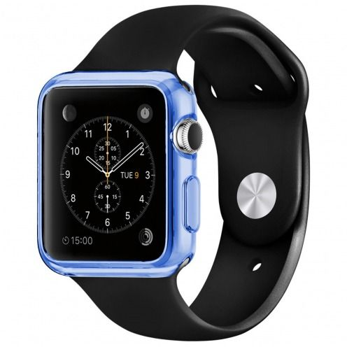 Carcasa Apple Watch 38mm Clear Frame Extra Fina Azul