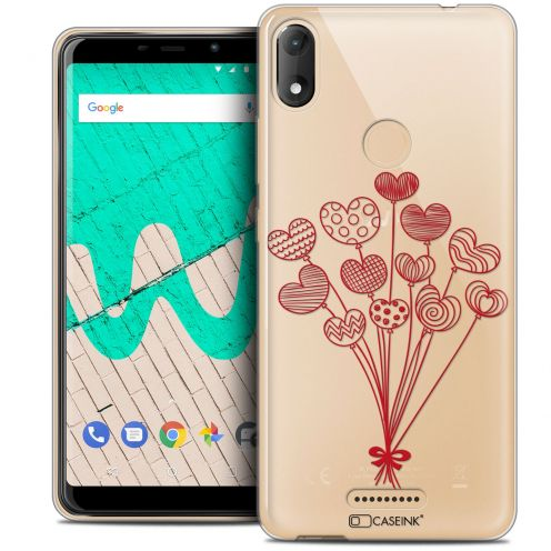 """Carcasa Crystal Gel Extra Fina Wiko View MAX (5.7"""") Love Ballons d'amour"""