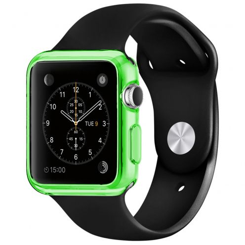 Carcasa Apple Watch 38mm Clear Frame Extra Fina Verde