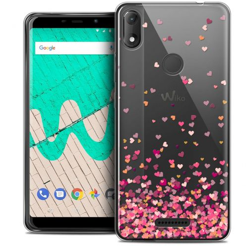 """Carcasa Crystal Gel Extra Fina Wiko View MAX (5.7"""") Sweetie Heart Flakes"""