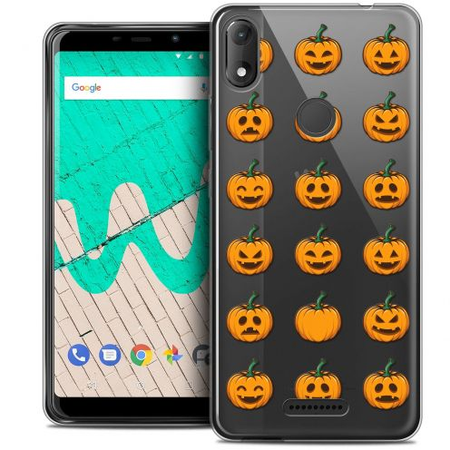 "Carcasa Crystal Gel Extra Fina Wiko View MAX (5.7"") Halloween Smiley Citrouille"