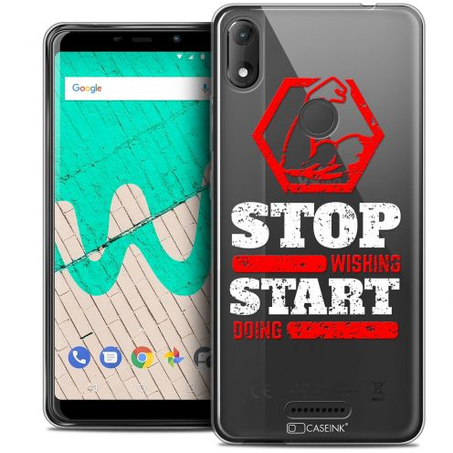 """Carcasa Crystal Gel Extra Fina Wiko View MAX (5.7"""") Quote Start Doing"""