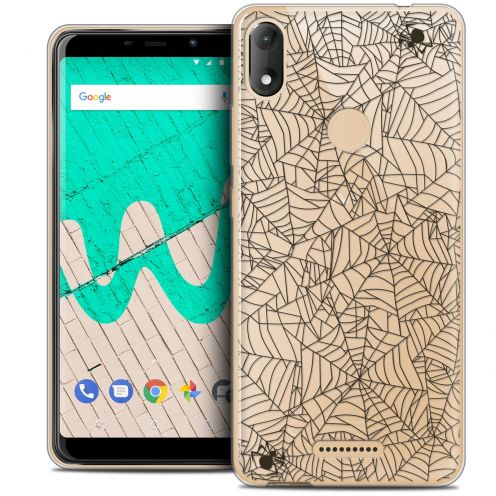 """Carcasa Crystal Gel Extra Fina Wiko View MAX (5.7"""") Halloween Spooky Spider"""